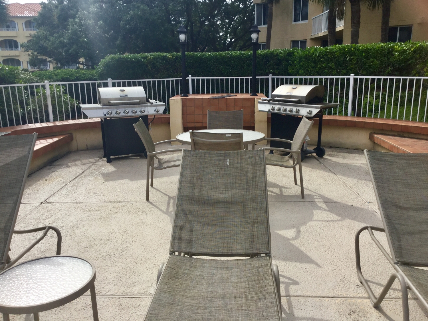 Grilling area located pool side